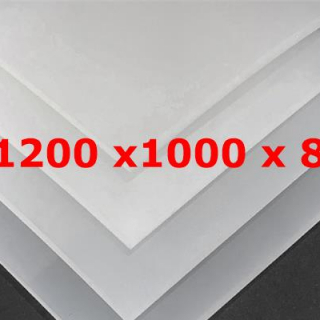M² SILICONE SHEET TRANSLUCENT FOOD GRADE 50ºSH (±5) WIDE 1200MM X 8MM (±0,5MM)