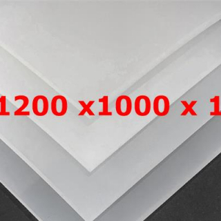 M² SILICONE SHEET TRANSLUCENT FOOD GRADE 50ºSH (±5) WIDE 1200MM X 10MM (±0,5MM)