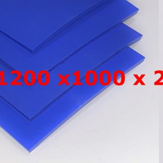 M² SILICONE SHEET BLUE FOOD GRADE 60ºSH (±5) WIDE 1200MM X 2MM (±0,3MM)