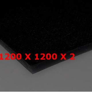M² SILICONE SHEET BLACK FOOD SAFE 60ºSH (±5) WIDE 1200 MM X 2 MM (±0,2) ADHESIVE