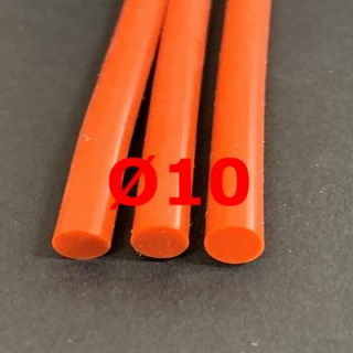 M. RED BRICK SILICONE CORD FOOD GRADE 60 SH° (±5) Ø 10 mm