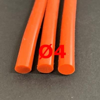 M. RED BRICK SILICONE CORD FOOD GRADE 60 SH° (±5) Ø 4 mm