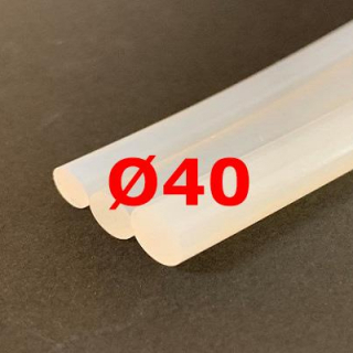 M. TRANSLUCENT SILICONE CORD FOOD GRADE 40 SH° (±5) Ø 40 mm