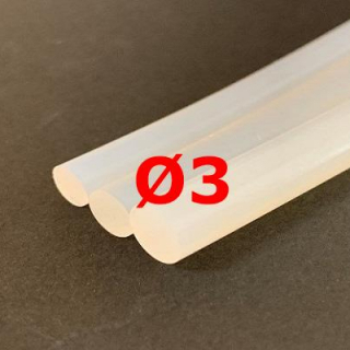 M. TRANSLUCENT SILICONE CORD FOOD GRADE 50 SH° (±5) Ø 3 mm