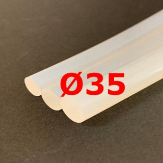M. TRANSLUCENT SILICONE CORD FOOD GRADE 60 SH° (±5) Ø 35 mm