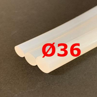 M. TRANSLUCENT SILICONE CORD FOOD GRADE 60 SH° (±5) Ø 36 mm