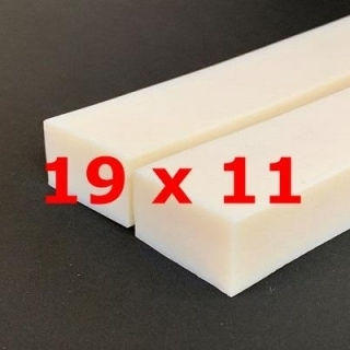 M.  PROFIL SILICONE BLANC ALIMENTAIRE 35 SH° (±5)   19 mm X   11 mm