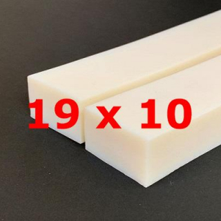 M.  PROFIL SILICONE BLANC ALIMENTAIRE 50 SH° (±5)   19 mm X   10 mm
