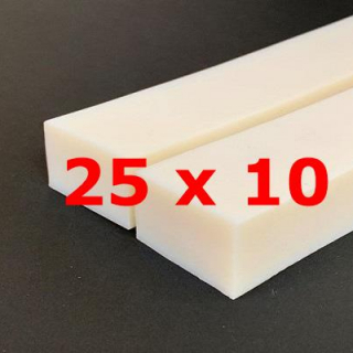 M.  WHITE SILICONE PROFILE FOOD GRADE 50 SH° (±5)   25 mm X   10 mm