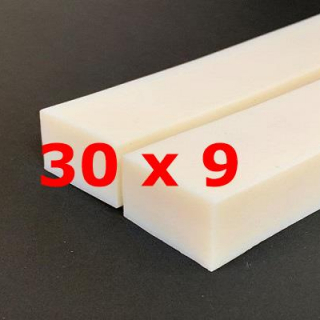 M.  PROFIL SILICONE BLANC ALIMENTAIRE 50 SH° (±5)   30 mm X   9 mm