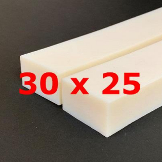 M.  WHITE SILICONE PROFILE FOOD GRADE 60 SH° (±5)   30 mm X   25 mm