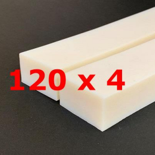 M.  PROFIL SILICONE BLANC ALIMENTAIRE 65 SH° (±5)   120 mm X   4 mm