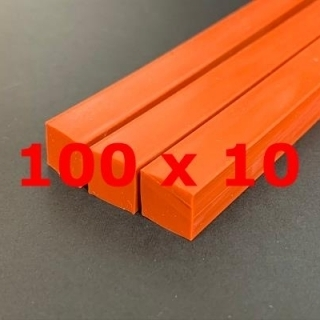 M.  RED BRICK SILICONE PROFILE FOOD GRADE 60 SH° (±5)   100 mm X   10 mm