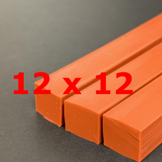 M. RED BRICK SILICONE PROFILE FOOD GRADE 60 SH° (±5) 12 mm X 12 mm