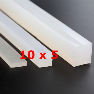 M. TRANSLUCENT SILICONE PROFILE FOOD GRADE 60 SH° (±5) 10 mm X 5 mm