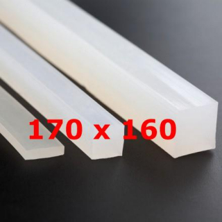 M.  TRANSLUCENT SILICONE PROFILE FOOD GRADE 60 SH° (±5)   170 mm X   160 mm