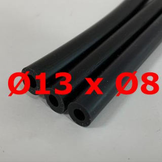 M. BLACK SILICONE TUBE FOOD GRADE 60 SH° (±5) Øe 13 mm X Øi 8 mm