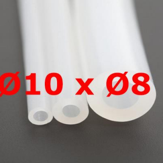 M. TRANSLUCENT SILICONE TUBE FOOD GRADE 35 SH° (±5) Øe 10 mm X Øi 8 mm