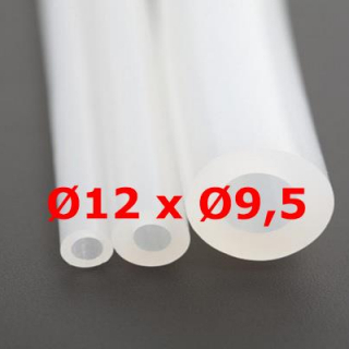 M.  TUYAU SILICONE TRANSLUCIDE ALIMENTAIRE 60 SH° (±5) Øe 12 mm X Øi 9,5 mm