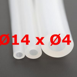 M. TRANSLUCENT SILICONE TUBE FOOD GRADE 60 SH° (±5) Øe 14 mm X Øi 4 mm
