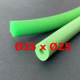 M. GREEN SILICONE TUBE FOOD GRADE 60 SH° (±5) Øe 35 mm X Øi 25 mm