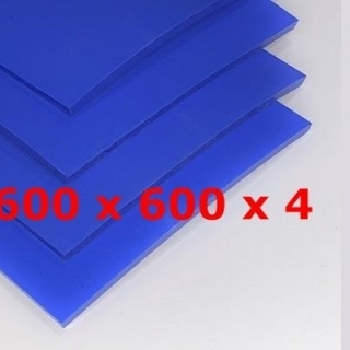 BLUE SILICONE SHEET FOOD SAFE 60 SH° (±5) 600 mm X 600 mm X 4mm (±0,3) Thickness