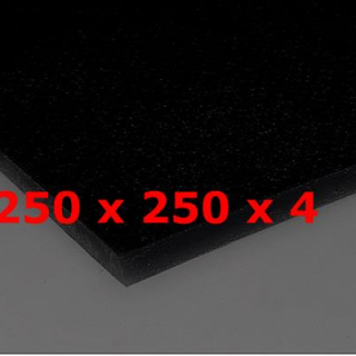 BLACK SILICONE SHEET FOOD SAFE 60 SH° (±5) 250 mm X 250 mm X 4mm (±0,3) Thickness