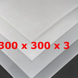 TRANSLUCENT SILICONE SHEET FOOD SAFE 60 SH° (±5) 300 mm X 300 mm X 3mm (±0,3) Thickness