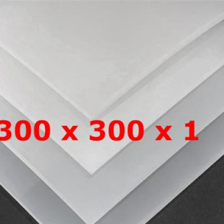 TRANSLUCENT SILICONE SHEET FOOD SAFE 60 SH° (±5) 300 mm X 300 mm X 1mm (±0,2) Thickness