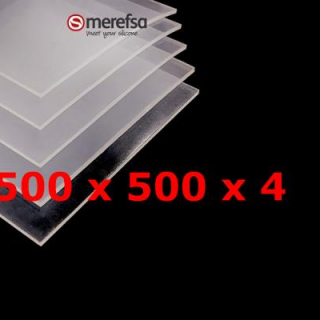TRANSLUCENT SILICONE SHEET FOOD SAFE 60 SH° (±5) 500 mm X 500 mm X 4mm (±0,3) Thickness NO TALC