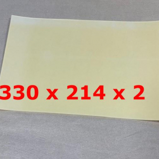 TRANSLUCENT SILICONE SHEET ADHESIVE 60 SH° (±5) 330 mm X 214 mm X 2 mm Thickness