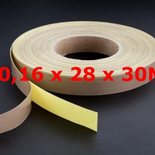 TVT ROLL WITH ADHESIVE BACKING 0,16mm X 28mm X 30 METERS