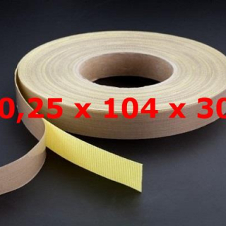 TVT ROLL WITH ADHESIVE BACKING 0,25mm X 104mm X 30 METERS