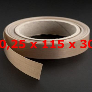 ROLLO TVT NORMAL 0,25mm X 115mm X 30 METROS