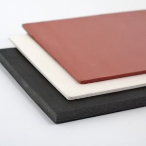 BLACK SPONGE SILICONE SHEET 600 mm X 600 mm DENS 0,25 gr/cm³ 6 mm (± 0,5)