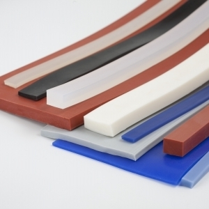 Rectangular silicone profiles