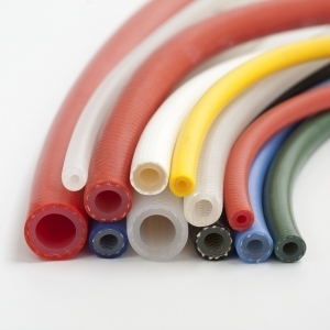 Reinforced silicone tubing
